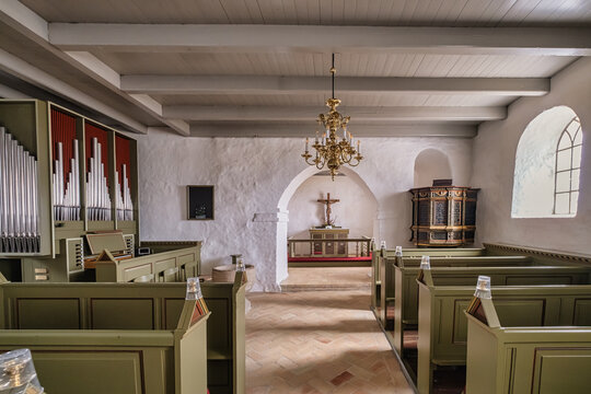 Small church in Lild in western rural Denmark