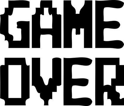GAME OVER JPEG IMAGE text files svg vector cutfile for cricut and silhouette
