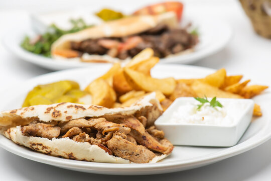 Shawarma Plate , Shawarma beef and chicken plate.