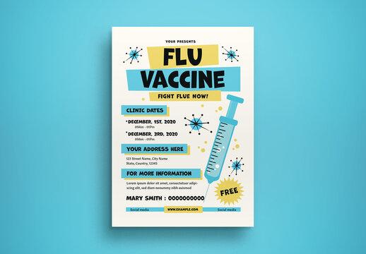 Flu Vaccine Flyer Layout