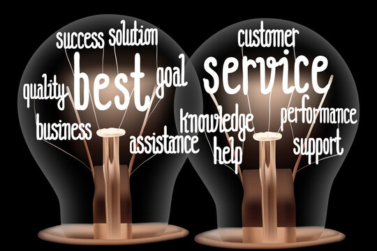 Light Bulbs with Best Service Concept