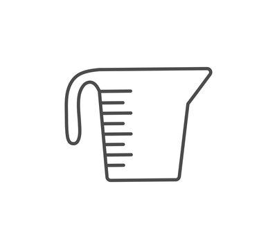 Measuring cup vector icon sign symbol