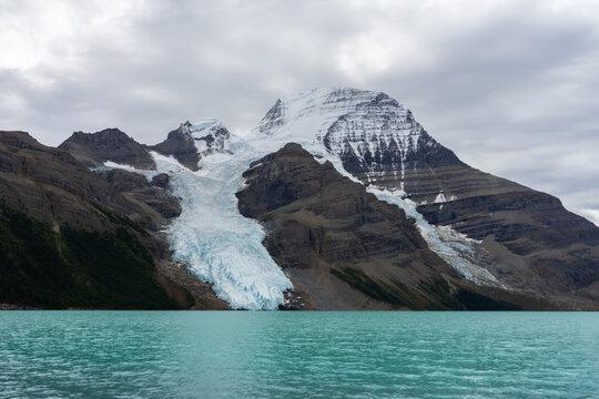 View of glacier Berg Lake, Mount Robson Provincial Park, Beautiful British Columbia, Canada