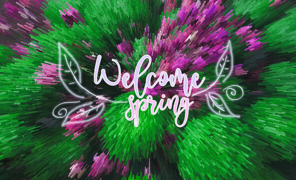 welcome spring abstract backround
