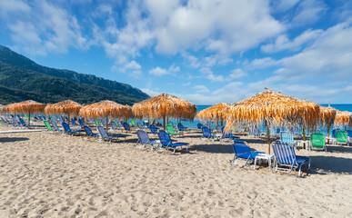 Wall Mural - Landscape with Agios Georgios Pagon beach in Corfu island, Greece