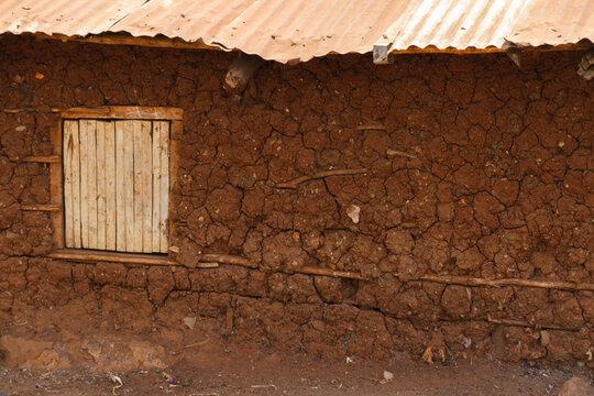Mud hut with window