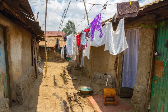 Laundry Drying in Kibera Slum