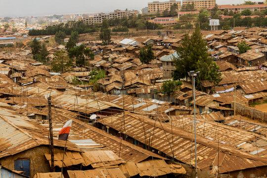 Kibera slum landscape