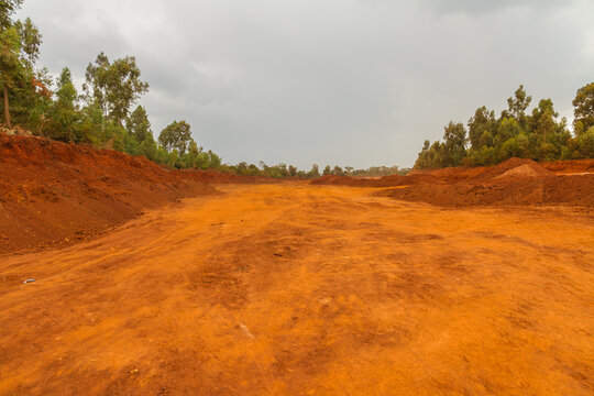 Red dirt road in Africa