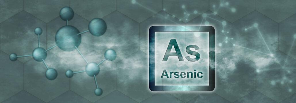 As symbol. Arsenic chemical element
