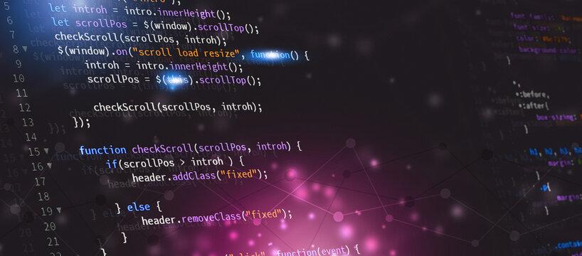 web developing website javascript banner