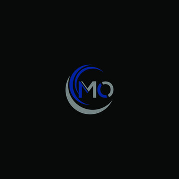 MO Unique abstract geometric logo design