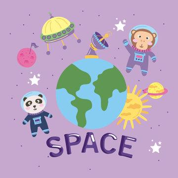 animals astronauts space