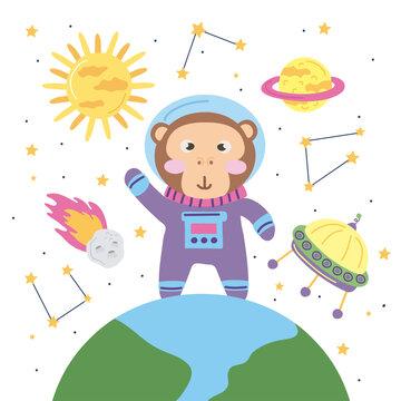 monkey astronaut icons