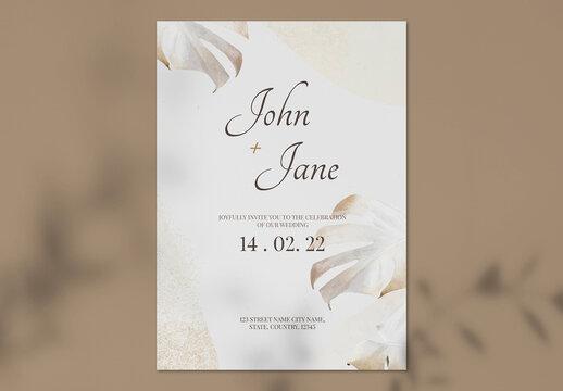 Wedding Inviation Card Template Design