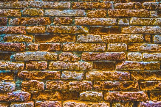 Colorful Bricks Abstract Brackground Venice Italy
