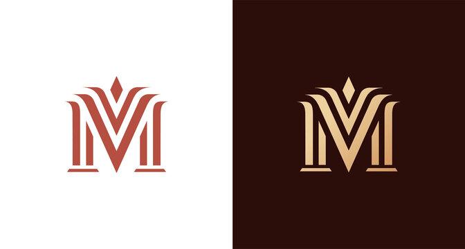 Elegant classy letter M logo
