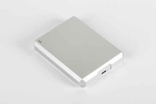 LaCie External Portable Hard drive, 4TB and 130MB s. White background