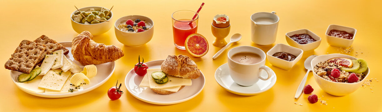 Composition of various breakfast food