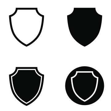 Shield icon vector set. protection illustration sign collection. armor symbol.