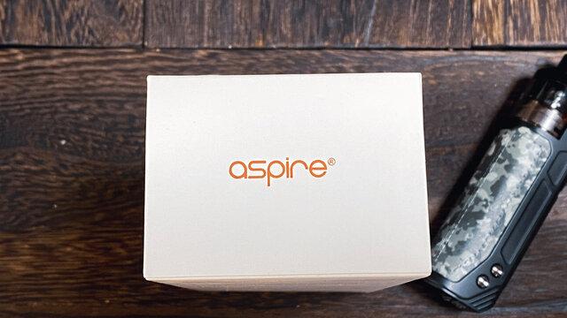 ASPIRE BP80 POD型コイル交換式VAPEをネットショップで注文。禁煙/節煙/煙草税・タバコ代値上げ対策。カモフラ柄の電子たばこ2021年3月撮影/日本