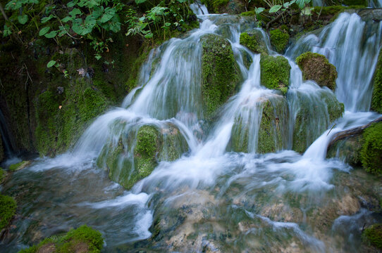 Beautiful Waterfall in Plitvice Lakes National Park, Croatia