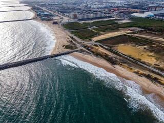 A view of the Atlantic Ocean from the lekki coast line, Lagos, Nigeria