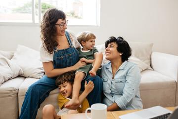 Fototapeta Happy LGBT family obraz