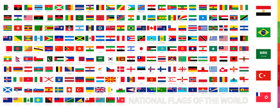 All flags of the world in official proportions.