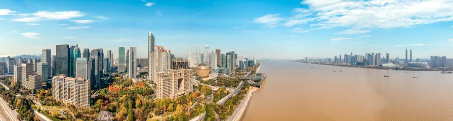 Hangzhou city modern architectural landscape