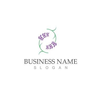 fresh lavender logo vector template