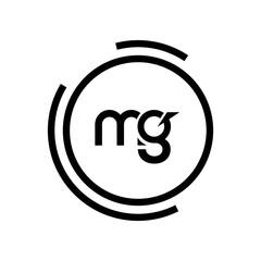 Fototapeta MG Letter Logo Design. Initial letters MG logo icon. Abstract letter MG M G minimal logo design template. M G letter design vector with black colors. mg logo. obraz
