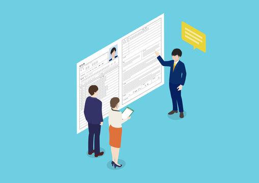 転職活動・就職活動・採用・面接のイラスト素材