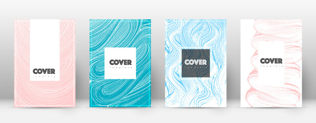 Obraz Cover page design template. Hipster brochure layout. Captivating trendy abstract cover page. Pink an - fototapety do salonu