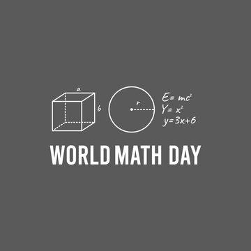 vector graphic of world math day good for world math day celebration. flat design. flyer design.flat illustration.