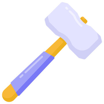 Sledge hammer mallet in flat trendy and unique icon