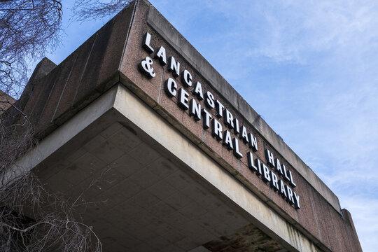 SWINTON, UNITED KINGDOM - Feb 13, 2021: Lancastrian Hall & central library Swinton
