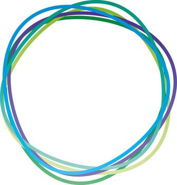 Kreis aus abstrakten Ringen - blau - grün, Logo für Natur- und Umweltschutz, Klimaaktivist, umweltbewußtes Handeln in der Klimakrise