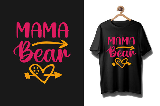 Mother's day colorful typography t shirt, Mommy typography shirt