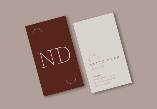Simple and Warm Business Card Layout