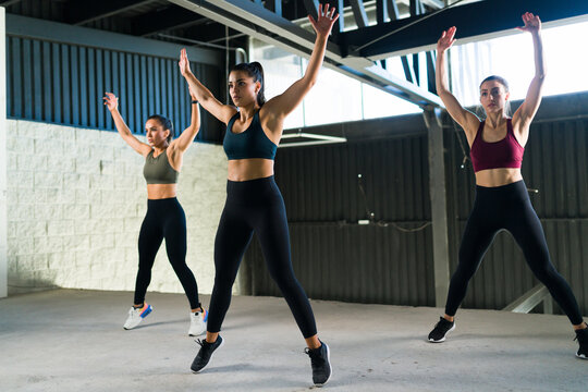 Athletic young women exercising to stay healthy and fit