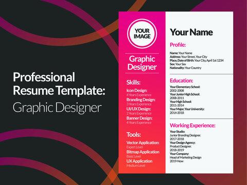 Graphic Designer Resume Design Template