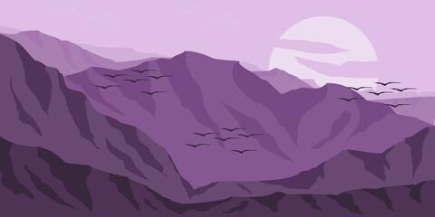 social media landscape background banner template