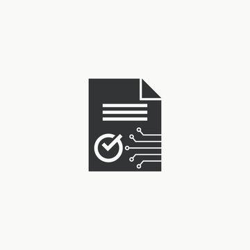Smart contract icon graphic design vector illustration