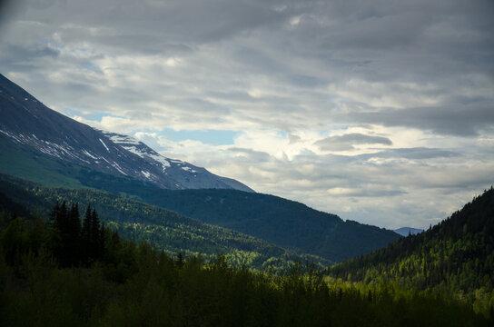 Alaska summer mountains