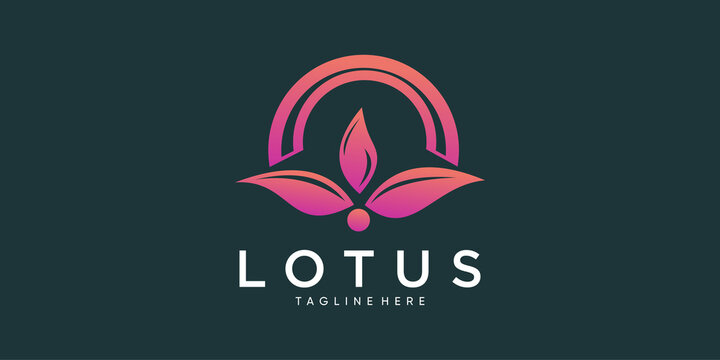 lotus logo with creative abstract concept part 3