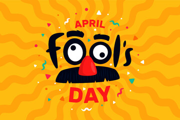 Flat april fools day