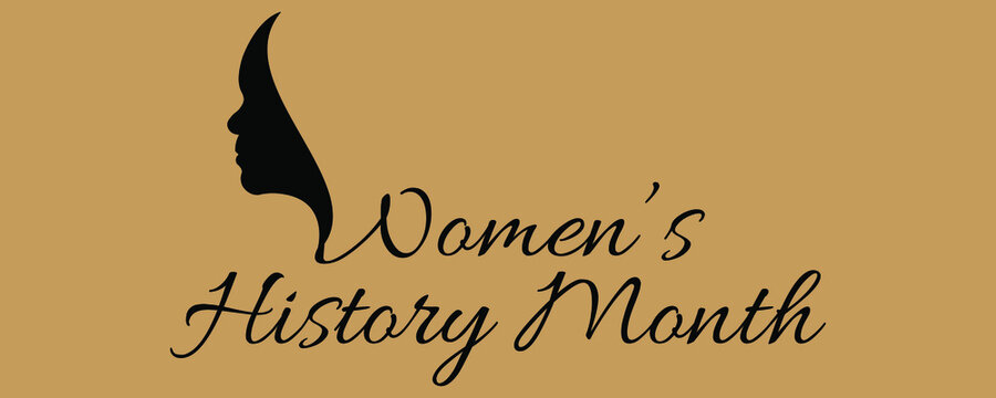 Vector illustration design. for Women's History Month Annual declared month that highlights the contributions of women to events in history and contemporary society.