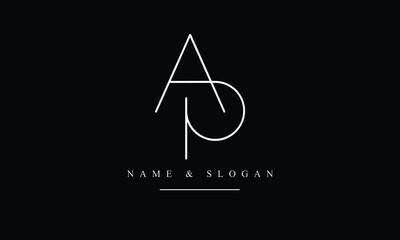 Obraz PA, AP, P, A abstract letters logo monogram - fototapety do salonu