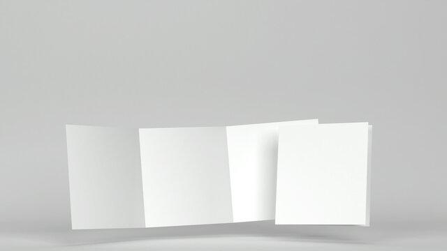 Blank square leaflet mockup